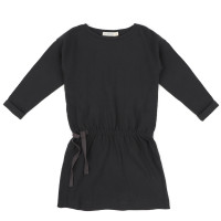 Textured blouson dress l/s