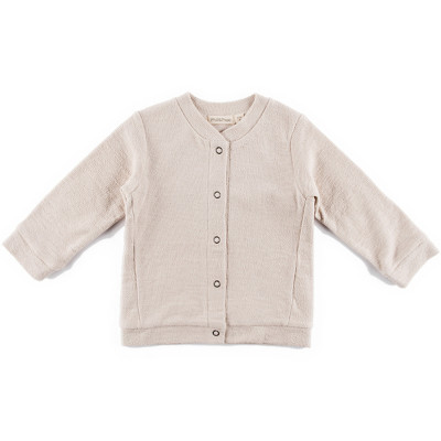 Reversed sweat cardigan
