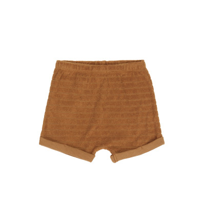 Striped frotté shorts