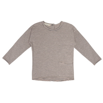 Raw-edged top stripes l/s