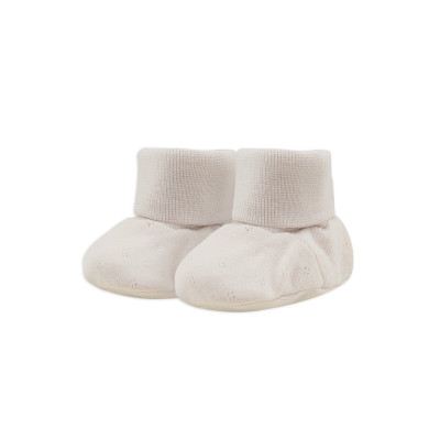 Baby booties pointelle