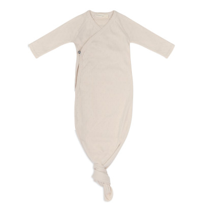 Knotted baby gown pointelle
