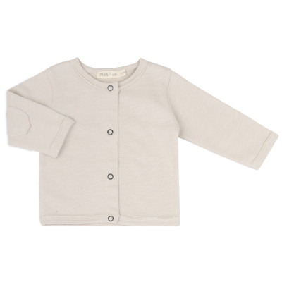 Raw-edged baby cardigan