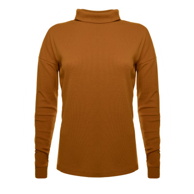 Rib turtleneck tee women L.E.